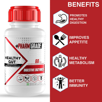 PHARMGRADE DIGESTIVE ENZYMES HEALTHY GUT