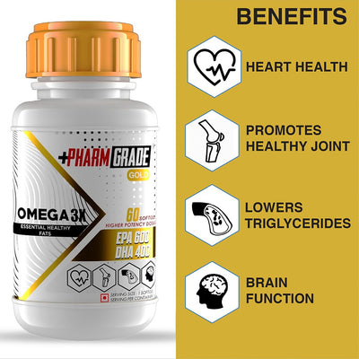 PHARMGRADE OMEGA 3X FISH OIL