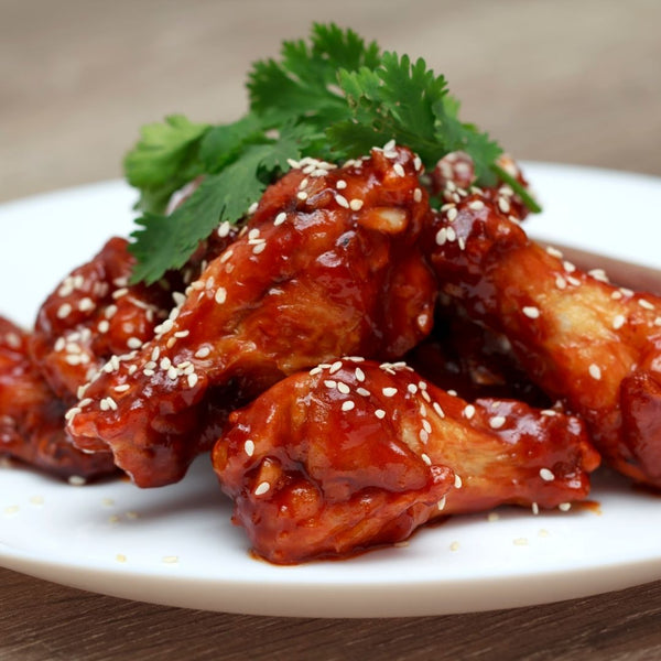Spicy Sweet & Sour Mango Chicken Wings - Air fried or Baked!