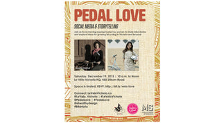 Pedal Love, Social Media & Storytelling Meetup | Invitation