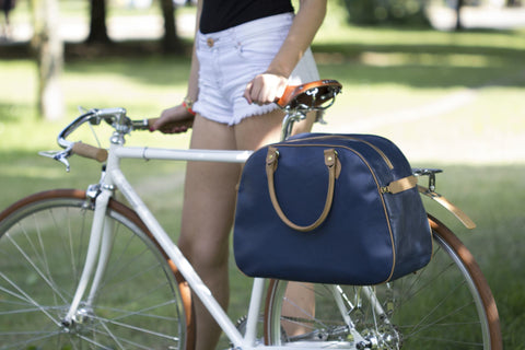 Our Hill & Ellis Birkdale Leather pannier gets a review in Momentum Magazine Available at Le Velo Victoria