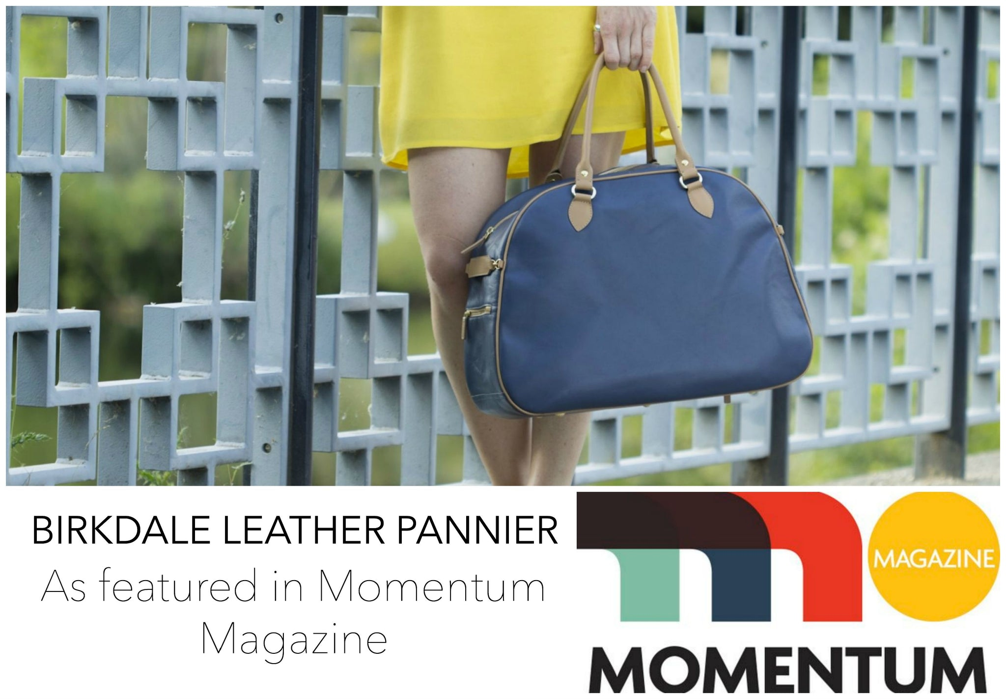 Momentum Magazine reviews our Hill & Ellis Birkdale Leather Pannier Available at Le Velo Victoria