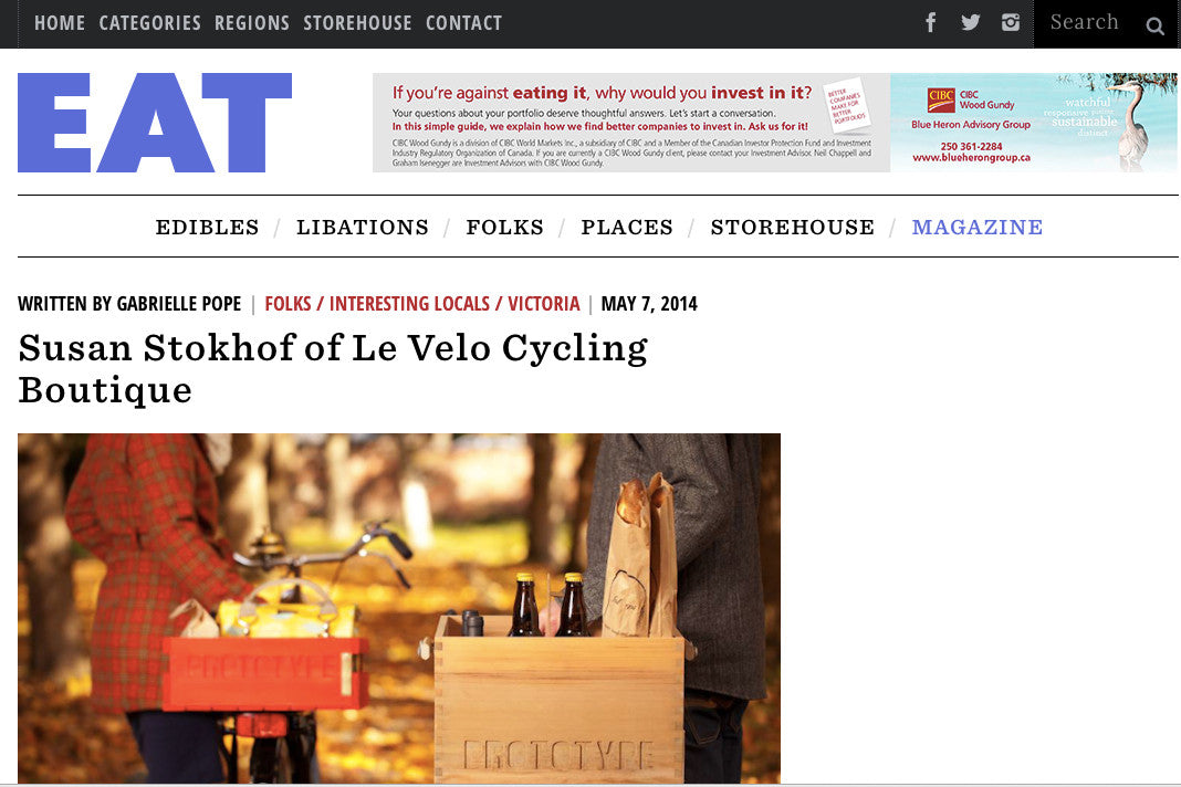 Le Vélo Victoria in Eat Magazine
