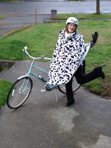 HappyRainyDays Rain Cape Available at Le Velo Victoria