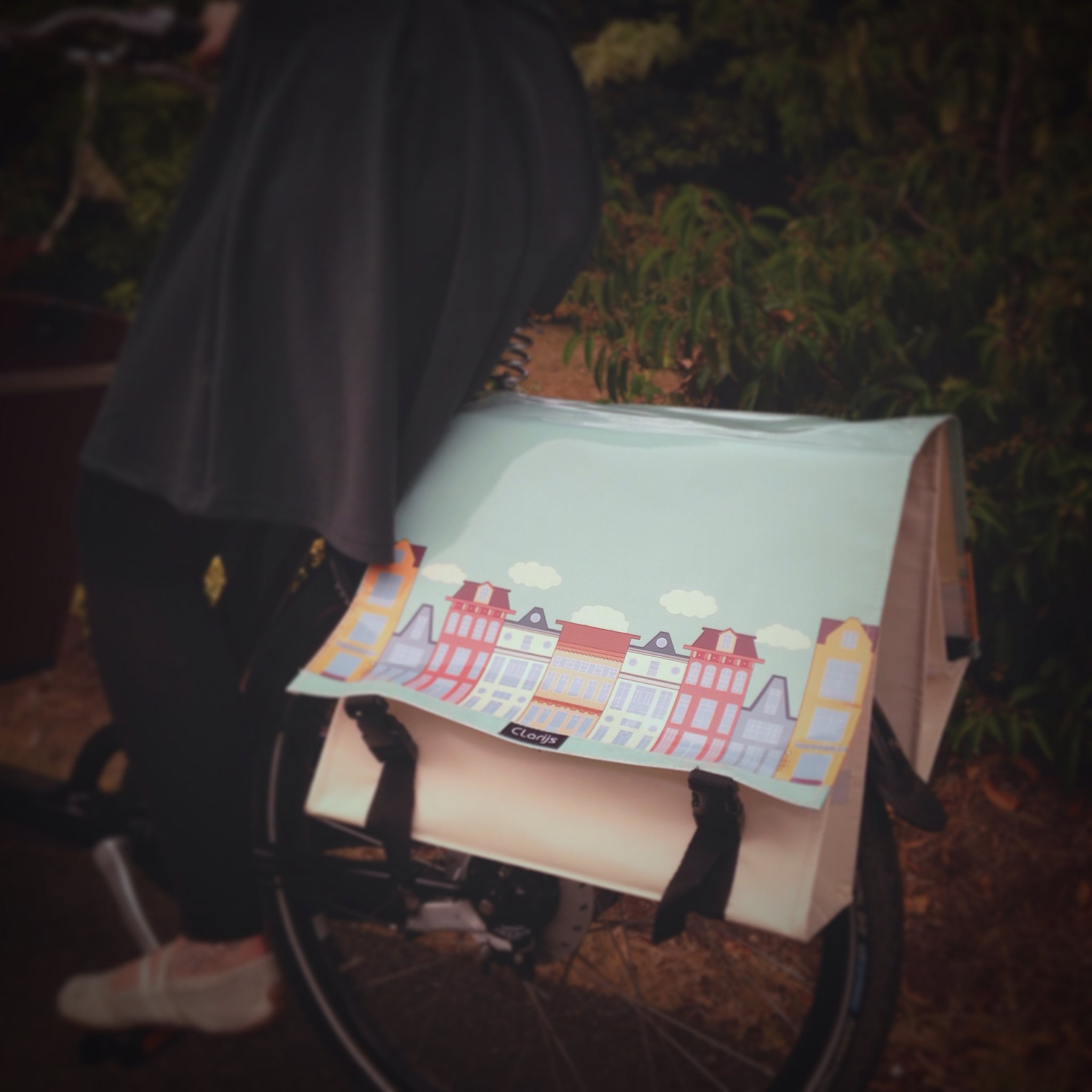 Olena Russell's curated picks for summer cycling for Le Velo Victoria Featuring Clarijs Panniers