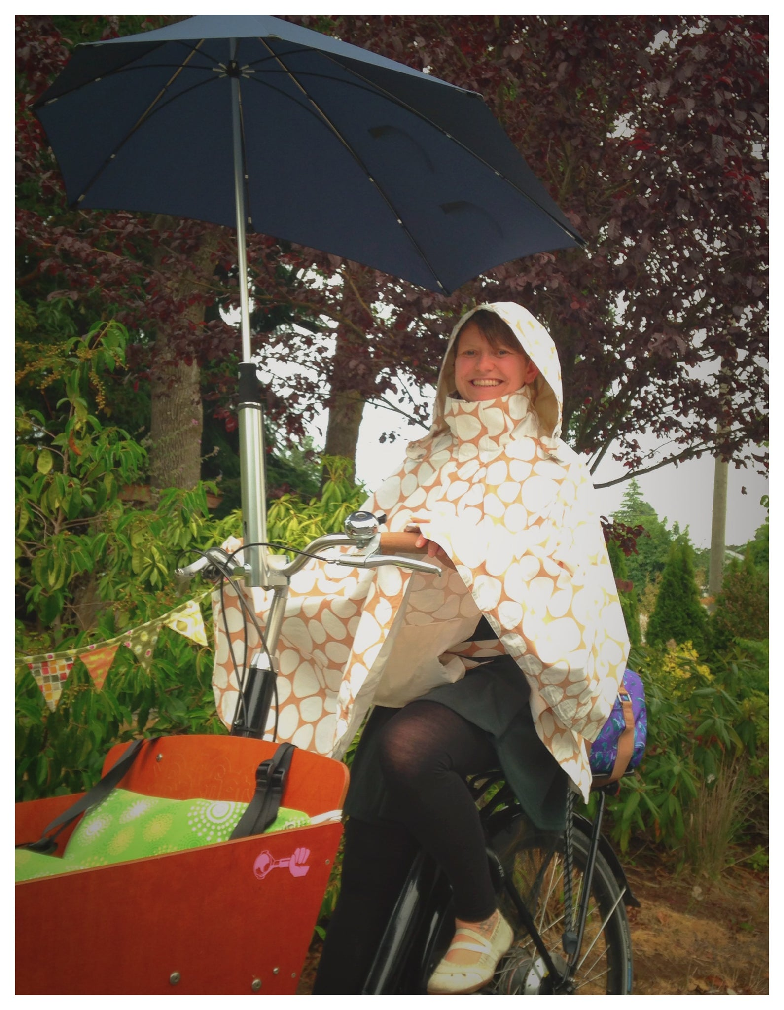 Olena Russell's curated picks for summer cycling for Le Velo Victoria Featuring HappyRainyDays Rain Capes
