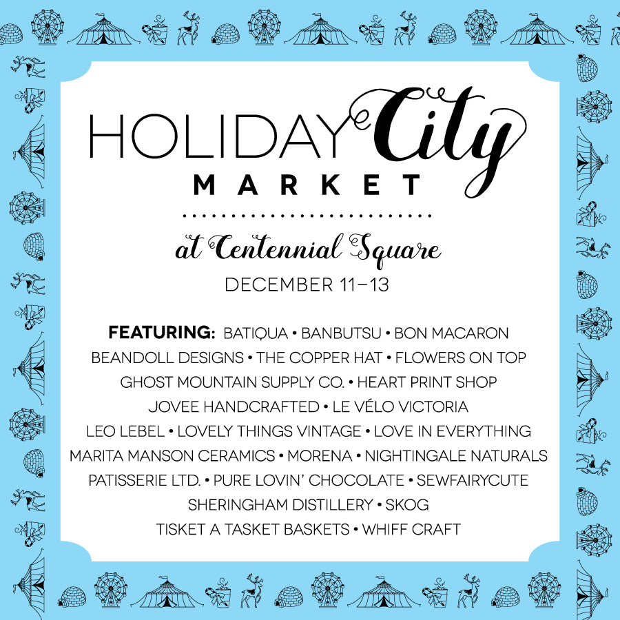 Join Le Velo at the Holiday in the City Market Dec. 11 - 12th