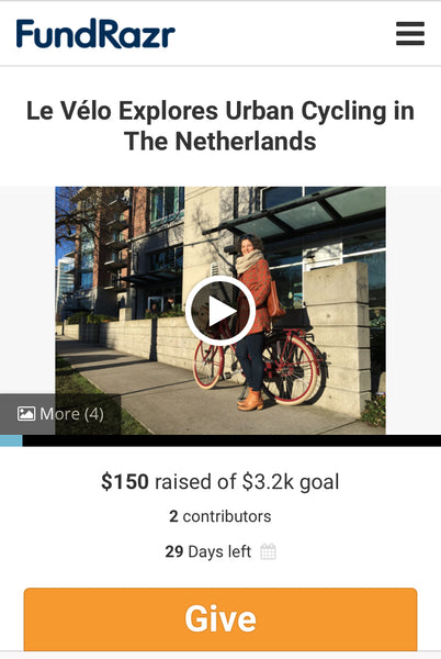 Crowdfunding campaign: Le Vélo Discovers the Netherlands