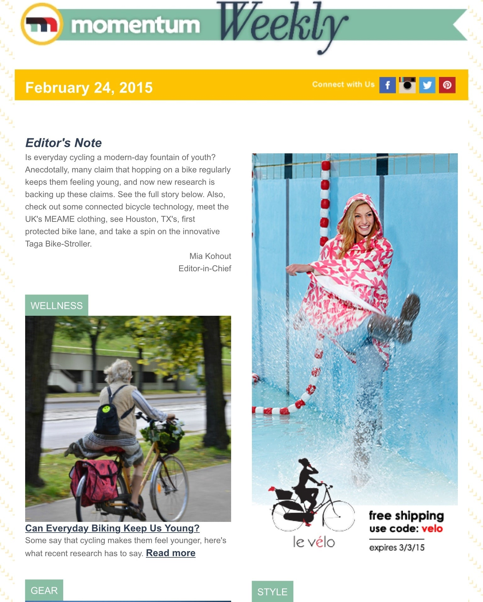 Free shipping at Le Vélo Victoria. As seen in Momentum Magazine
