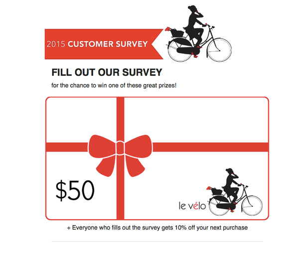 Le Vélo Victoria's 2015 Customer Survey