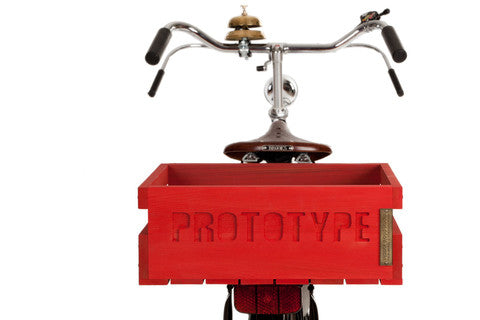 Bicycle crates available at Le Velo Victoria
