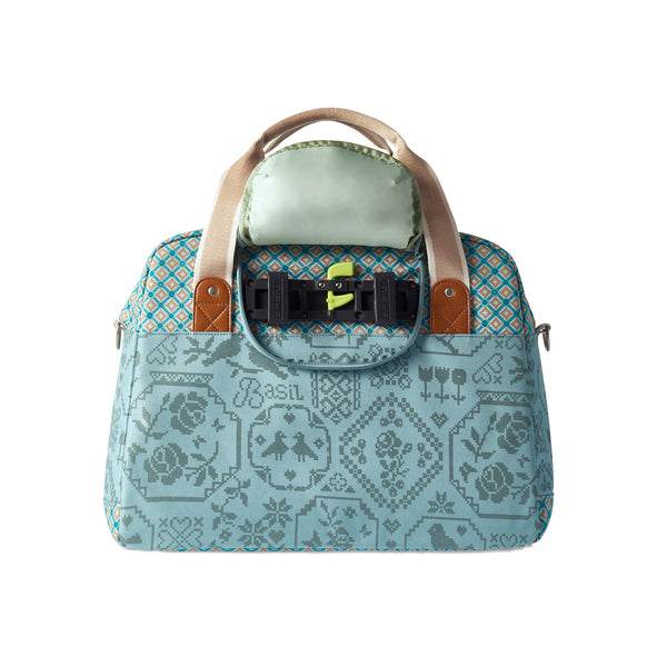 Boheme Carry All | Jade back view with clips available at Le Vélo Victoria