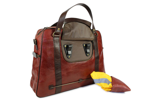 Duke - Cherry Red Leather Satchel