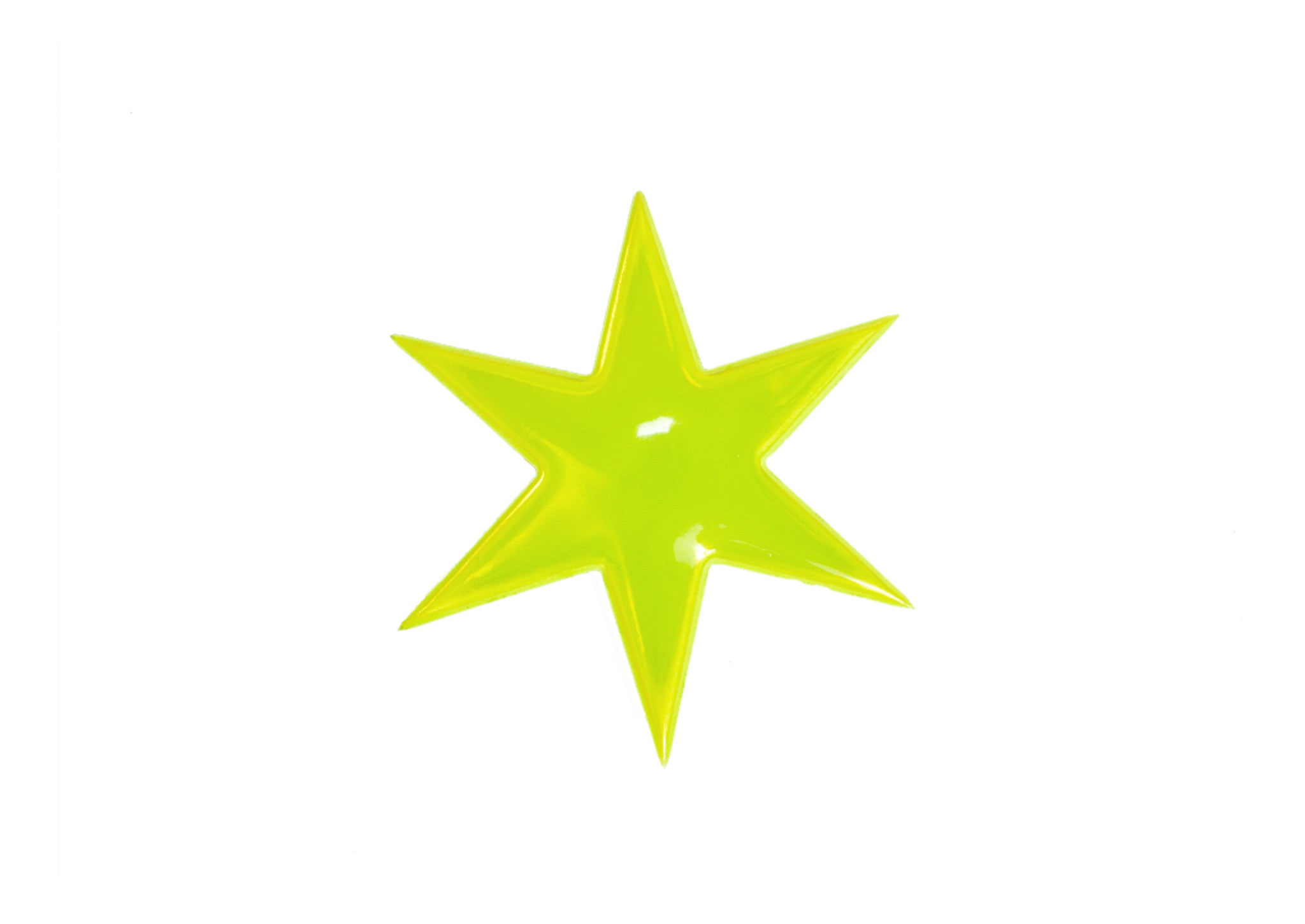 Star Lime Reflective Pin