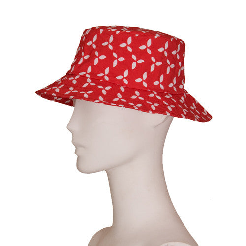 Rain Hat Ricky | Red/White