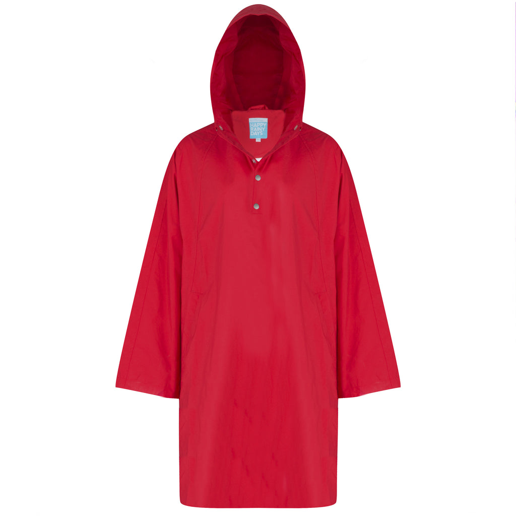 Red Rain Poncho waterproof
