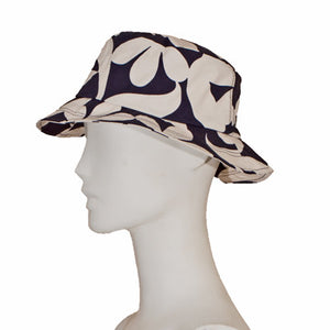 Rain Hat | Feline - Navy/White