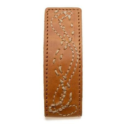 Dress Clip | Tracks Brown Leather