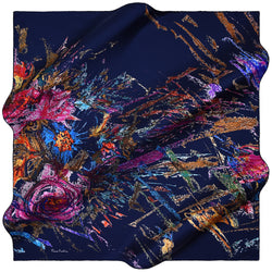 100% TWILL SILK SQUARE SCARF (PC-11139)