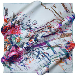 100% TWILL SILK SQUARE SCARF (PC-11122)
