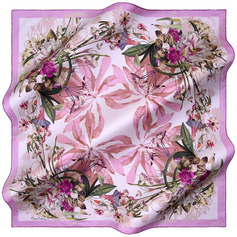 100% TWILL SILK SQUARE SCARF (PC-10965)
