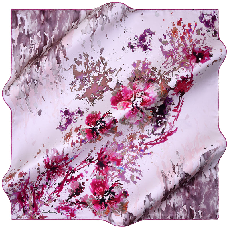 100% TWILL SILK SQUARE SCARF (PC-10941)