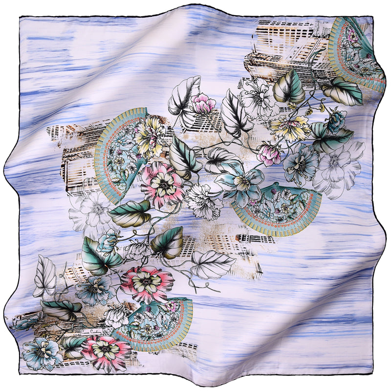 100% TWILL SILK SQUARE SCARF (PC-11078)