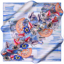 100% TWILL SILK SQUARE SCARF (PC-10811)