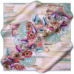 100% TWILL SILK SQUARE SCARF (PC-10996)