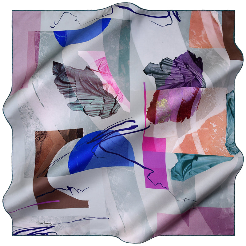 100% TWILL SILK SQUARE SCARF (PC-11054)