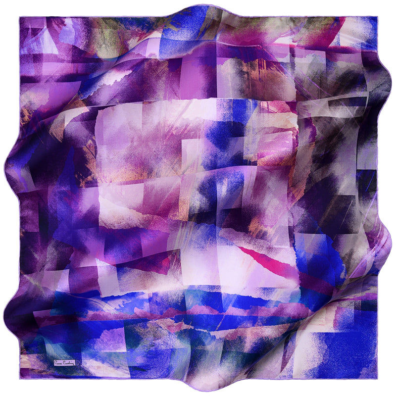 100% TWILL SILK SQUARE SCARF (PC-10880)
