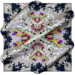 100% TWILL SILK SQUARE SCARF (PC-10651)