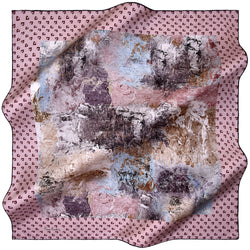 100% TWILL SILK SQUARE SCARF (PC-11184)