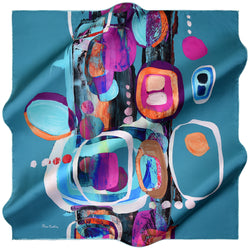 100% TWILL SILK SQUARE SCARF (PC-10668)