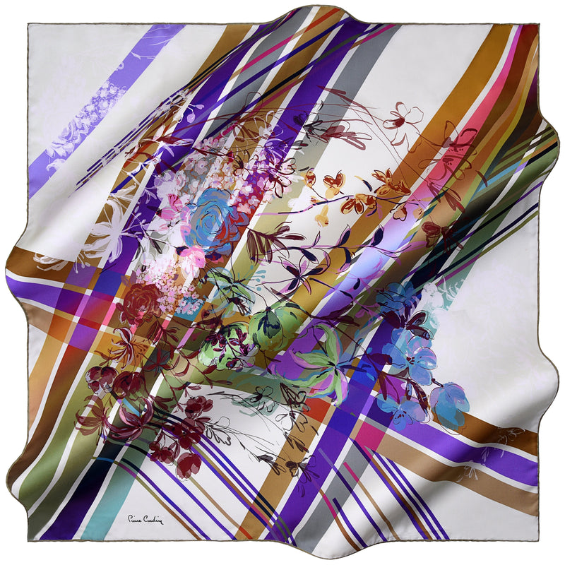 100% TWILL SILK SQUARE SCARF (PC-10910)