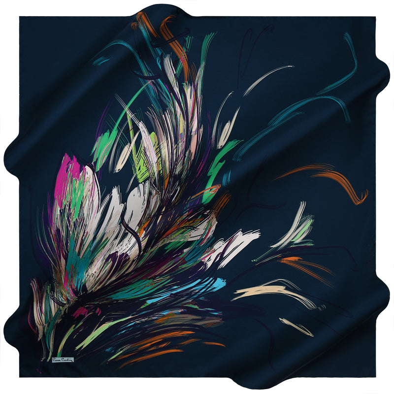 100% TWILL SILK SQUARE SCARF (PC-15328-W19)
