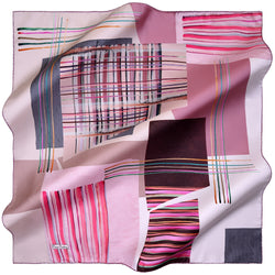 100% TWILL SILK SQUARE SCARF (PC-10835)