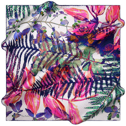 100% TWILL SILK SQUARE SCARF (PC-15977-W19)