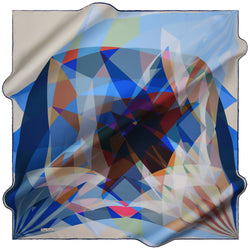 100% TWILL SILK SQUARE SCARF (PC-15359-W19)