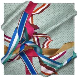100% TWILL SILK SQUARE SCARF (PC-15434-W19)
