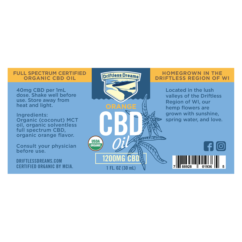 1OZ CBD Oil - 1200MG