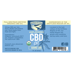 1OZ CBD Oil - 600MG