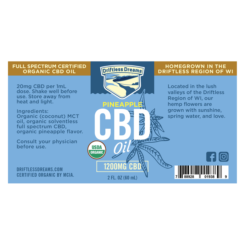 2OZ CBD Oil - 1200MG