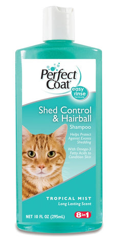 8 in 1 Perfect Coat Shed & Hairball Control Cat Shampoo 10oz