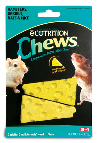 8 in 1 Ecotrition Chews Cheese Flavor Hamster Gerbil Rat & Mouse 1oz