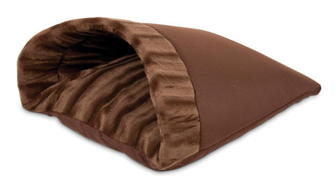 Aspen Pet Kitty Cave Chocolate Brown 19inX16in