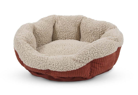 Aspen Pet Self Warming Cat Bed Warm Spice/Cream 19in