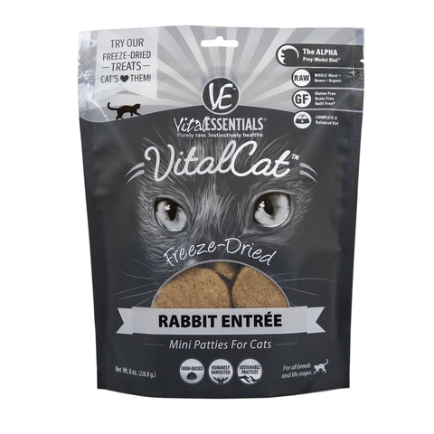 Vital Cat Freeze Dried Mini Patty Rabbit 8 oz.