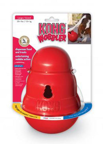 Kong Wobbler Dispensing Toy And Feeder Large Red