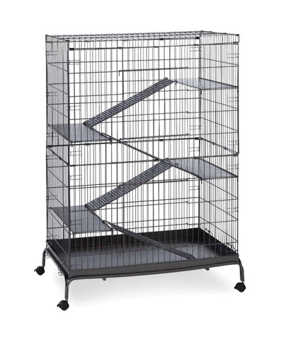 Prevue Pet Products Jumbo Steel Ferret Cage on Casters Black